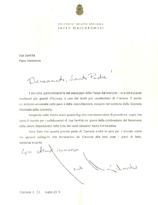 letter to pope
