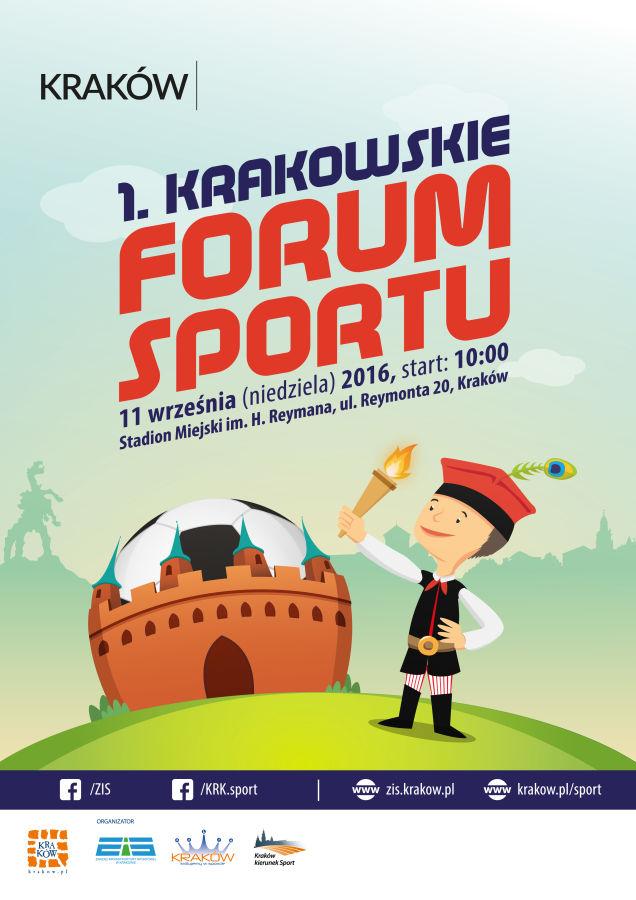 Krakowskie Forum Sportu - plakat