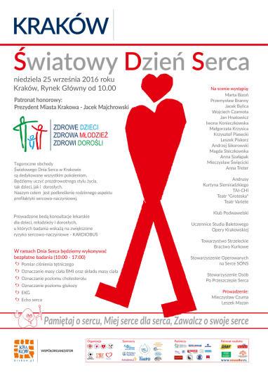 Światowy Dzień Serca 2016 - plakat