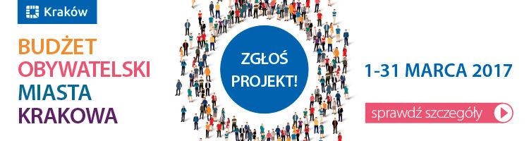 Budżet Obywatelski Miasta Krakowa 2017, banner