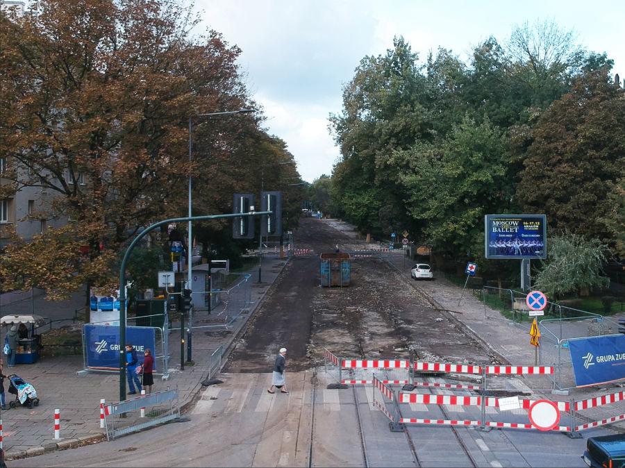 Remont torowiska do Bronowic.