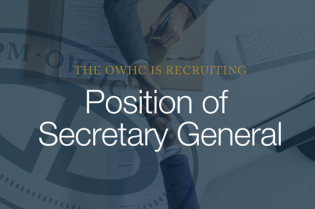 The OWHC is recruiting: position of Secretary General